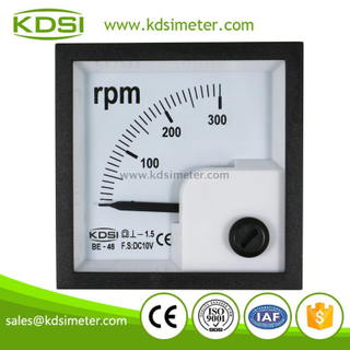 Square mini type BE-48 DC10V 300RPM analog speed portable tachometer