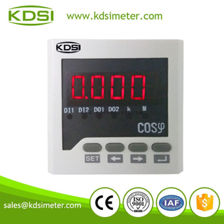 Digital display panel meters BE-72 H COS single phase digital power factor meter