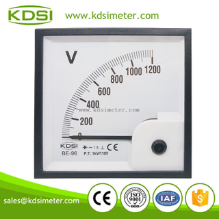 Square type BE-96 96 * 96 AC1200V 1KV/110V ac voltmeter with rectifier