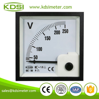 Panel mount analog ac voltmeter BE-80 AC250V square panel ac voltage meters