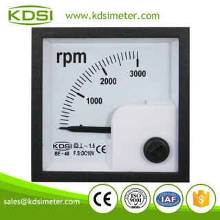 Easy operation KDSI BE-48 DC10V 3000RPM panel analog rpm meter