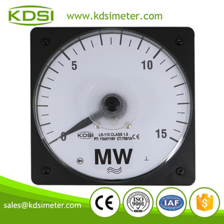 CE certificate LS-110 15MW 11kV/110V 750/1A panel wide angle analog Electric Power Meter