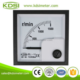 KDSI Multi-purpose BE-48 DC20mA 1500r-min analog mini ampere tachometer