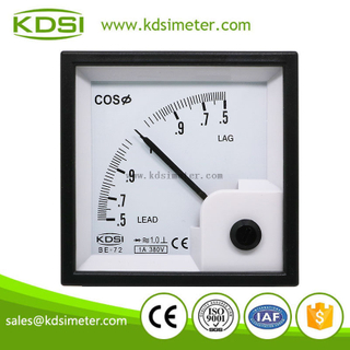 Factory direct sales BE-72 cos 1A 380V 0.5lead-1-0.5lag panel power factor meter