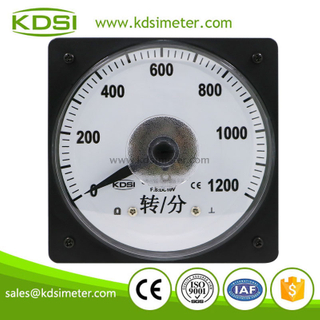 KDSI wide angle LS-110 DC10V 1200 analog panel rpm speed meter
