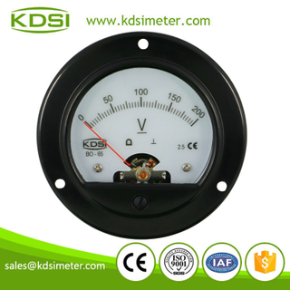 Factory direct sales BO-65 DC200V analog panel backlighting round voltmeter