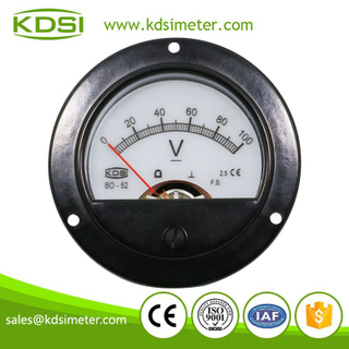 Small & high sensitivity BO-52 DC100V backlighting mini round voltmeter