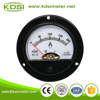 Mini round type BO-52 DC60mV 200A analog panel backlighting ampere meter