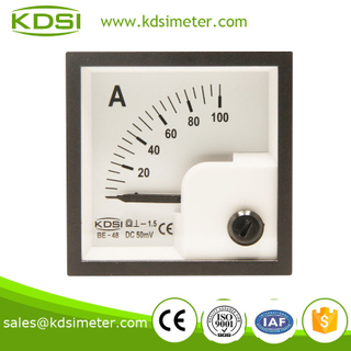Small & high sensitivity BE-48 DC75mV 25A analog current meter