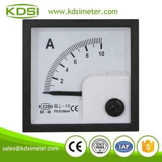 Square panel meter Analog display DC Ammeter BE-48 48*48mm DC60mV 10A panel galvanometer