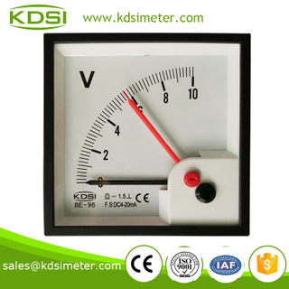 Easy installation Classical BE-96 DC4-20mA 10V double pointer voltmeter for car