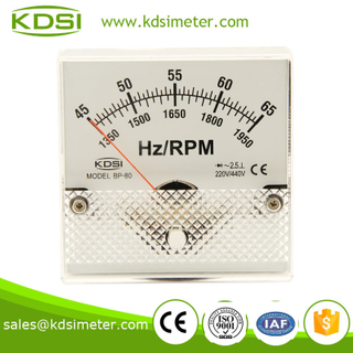 BP-80 HZ+RPM meter 220-440V 45-65HZ+1350-1950RPM