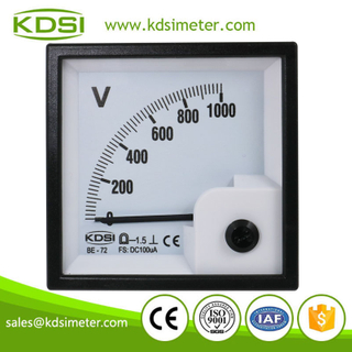 Factory direct sales BE-72 DC100uA 1000V analog panel voltmeter and ammeter