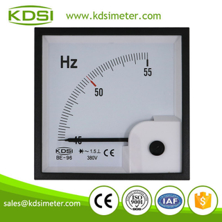 20 Year Top Manufacturer of CE,ISO passed BE-96 45-55Hz 380V analog panel electrical frequency meter