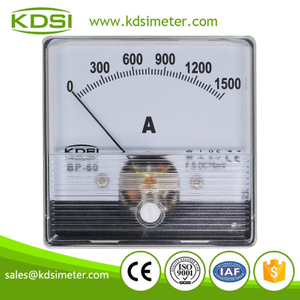 Factory direct sales BP-60N DC75mV 1500A panel analog dc ammeter with output