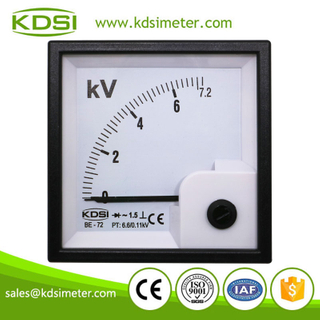 Hot Selling Good Quality BE-72 AC7.2kV 6.6/0.11kV rectifier analog panel ac voltmeter