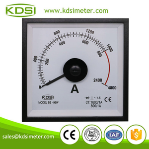 Original manufacturer high Quality BE-96W 1600/1A 3times wide angle analog marine amp panel meter