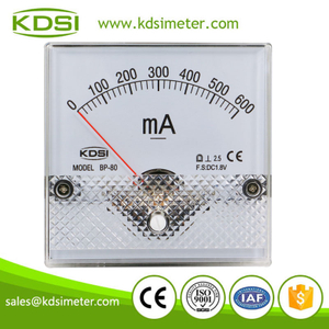 Factory direct sales BP-80 DC1.8V 600mA analog panel mount ammeter