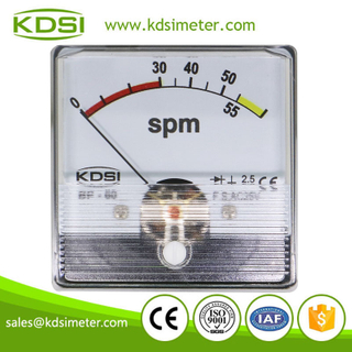 High quality professional BP-60N AC25V 65spm rectifier analog panel Stroke Per minute meter