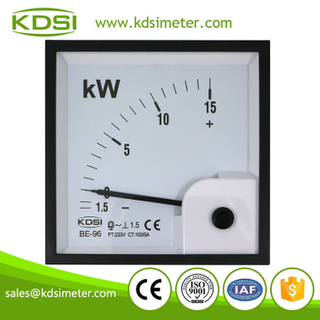 Original manufacturer high Quality BE-96 1P -1.5-15kW 220V 100/5A analog panel single phase power meter