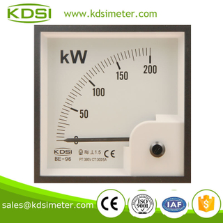 Square type BE-96 200KW 380V 300 / 5A energy meter price