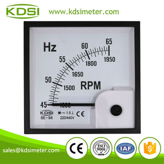 High quality BE-96 HZ+RPM meter 45-65HZ+RPM analog frequency rpm meter