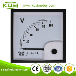 Factory direct sales BE-96 AC100V rectifier analog ac voltage electric panel meter