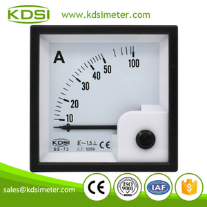 Square type BE-72 AC50/5A analog ac amp panel meter