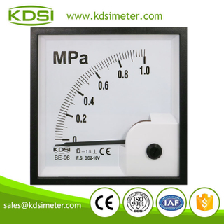 China Supplier BE-96 DC2-10V 1MPa analog voltage pressure panel meter