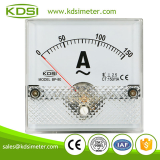 Taiwan technology BP-80 AC150/1A analog ac amp panel meter