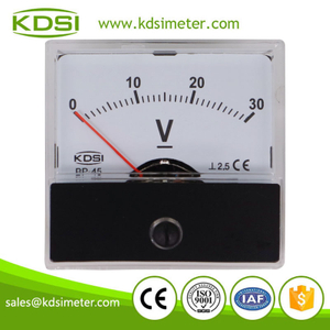 Durable in use BP-45 DC30V analog dc panel electric voltmeter
