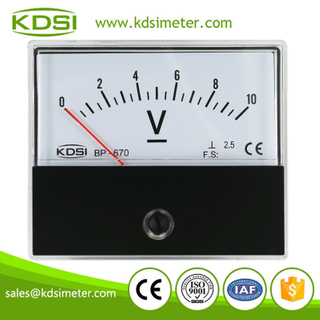 BP-670 DC Voltmeter DC10V Panel Voltage Meter For Audio and Stage Amplifiers