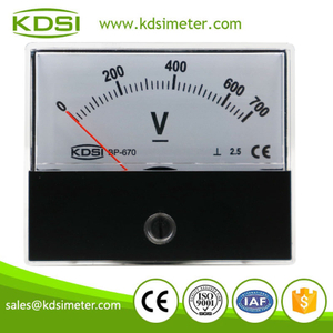 China Supplier BP-670 DC700V panel analog dc voltmeter