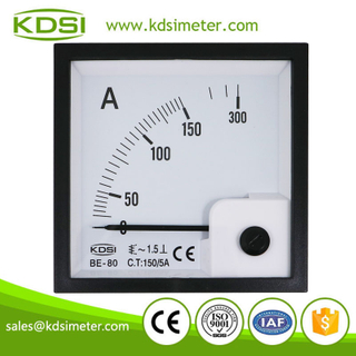 KDSI electronic apparatus BE-80 AC150/5A ac analog amp current panel meter