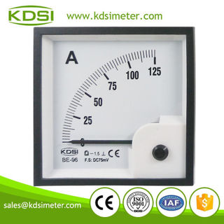 Original manufacturer high Quality BE-96 DC75mV 125A analog dc panel volt ampere meter