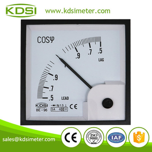 Factory direct sales BE-96 3P3W COS 440V 5A analog panel power factor meter