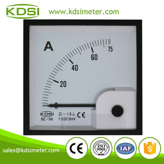 Original manufacturer high Quality BE-96 DC75mV 75A dc analog dual panel volt amp meter