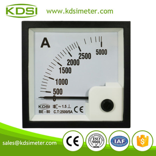 KDSI electronic apparatus BE-80 AC2500/5A analog panel ac ammeter for ct