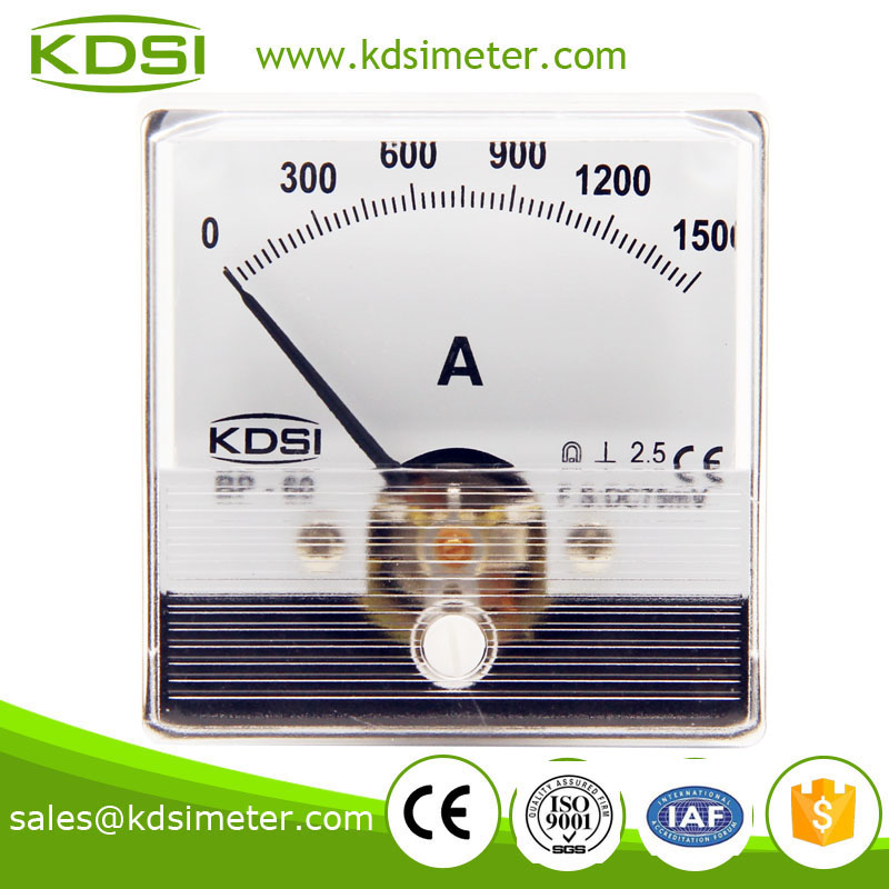 Special Meter for Welding Machine BP-60N 60*60 DC75mV 1500A panel ammeter and voltmeter