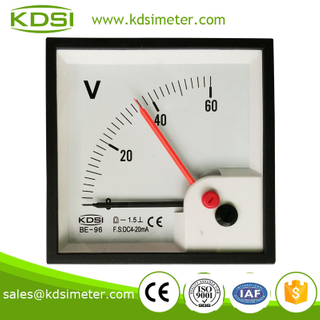 CE certificate Portable precise BE-96 DC4-20mA 60V double pointer analog dc panel meter