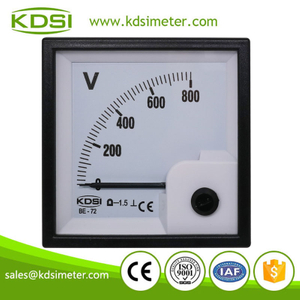 High quality professional BE-72 DC800V panel analog dc voltmeter
