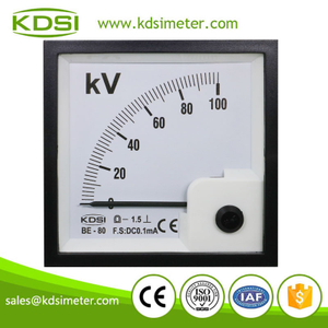 Easy operation BE-80 DC0.1mA 100kV analog panel dc ampere kilovolt meter