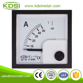 Original manufacturer high Quality BE-48 AC50/5A ac analog amp current panel meter
