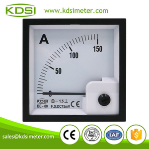 Easy operation BE-80 DC75mV 150A analog dc panel mount ammeter