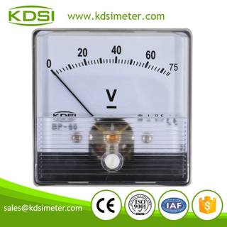 High quality BP-60N DC75V panel analog din rail voltmeter