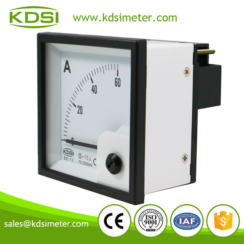Hot Selling Good Quality BE-72 DC50mV 60A dc volt electrical amp meter