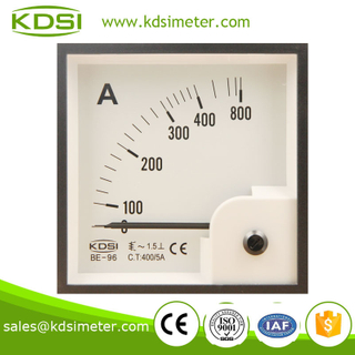 Classical BE-96 96*96 AC400/5A analog ac dc ampere meter