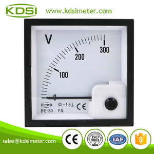 KDSI electronic apparatus BE-80 DC300V analog panel mount voltmeter