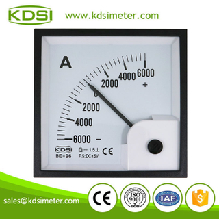 High quality professional BE-96 DC+-5V+-6000A analog panel mount ammeter