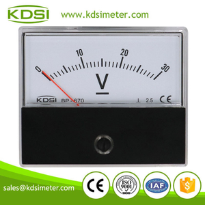 High quality professional BP-670 DC30V panel analog dc voltmeter